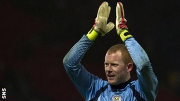 St Mirren goalkeeper Craig Samson