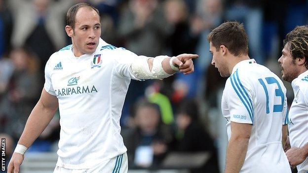 Italy captain Sergio Parisse