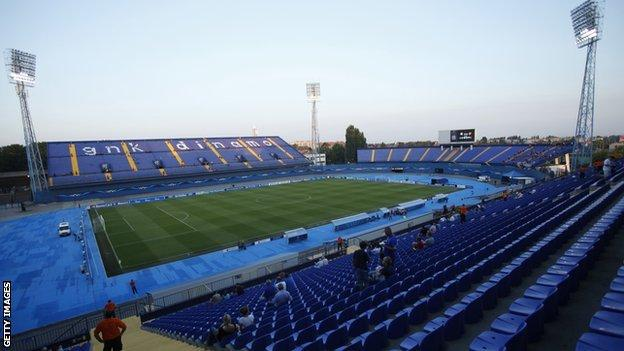 Maksimir Stadium in Zagreb