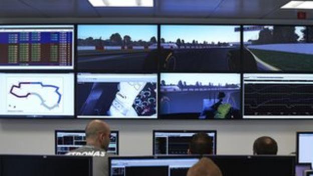 Mercedes control centre