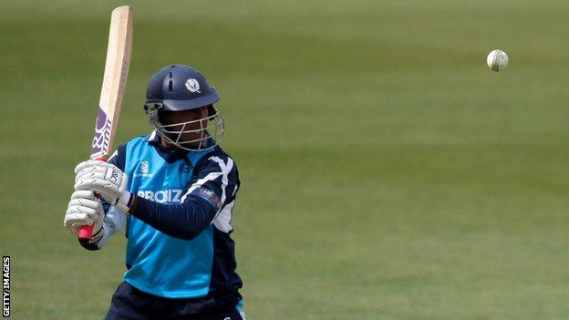 Majid Haq was one of the Scottish batsmen that did not manage a run