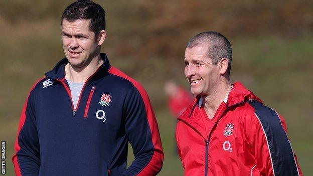 England head coach Stuart Lancaster (right) and assistant Andy Farrell