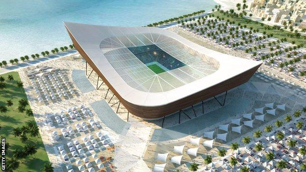 A stadium for the Qatar 2022 World Cup
