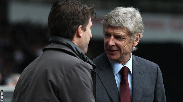 Michael Laudrup with Arsene Wenger