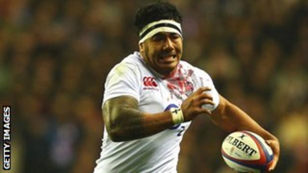Manu Tuilagi on the charge for England