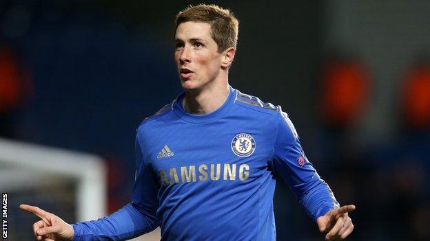 Chelsea striker Fernando Torres