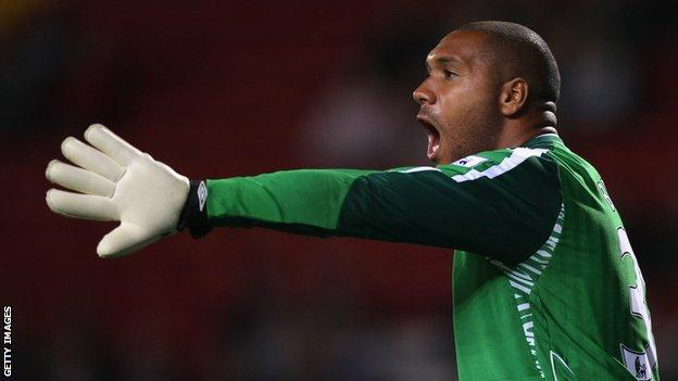 Welsh international goalkeeper Jason Brown, who received racist abuse on Twitter