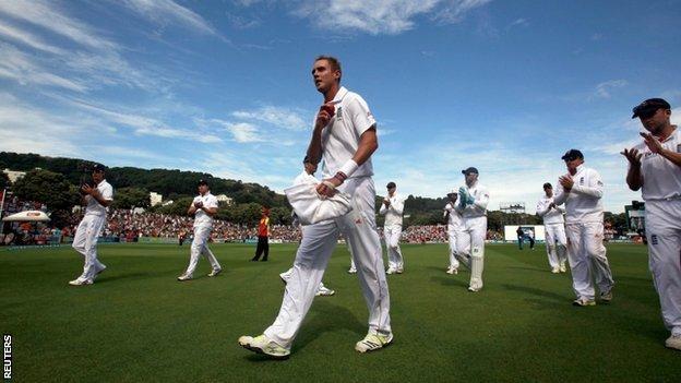 Stuart Broad and the England team