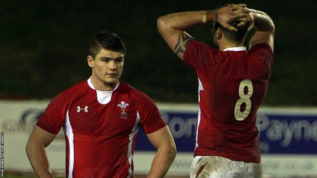 Wales captain Ellis Jenkins and wing Harry Robinson look dejected at the end of a game England won 28-15 to clinch the Under-20 Six Nations.
