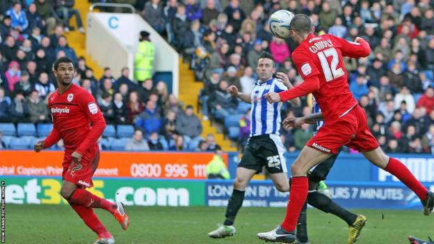 And Matthew Connolly's header secures a vital 2-0 victory for promotion chasing Cardiff City at Sheffield Wednesday.