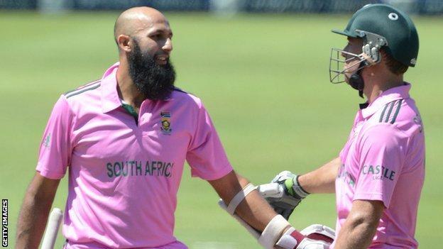 Hashim Amla and AB de Villiers
