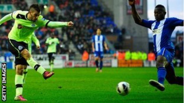 Davide Santon fires home Newcastle's equaliser