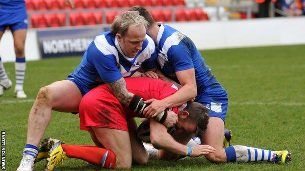 Swinton Lions in action against Doncaster