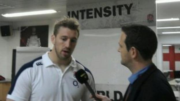 Ali Eykyn chats to England captain Chris Robshaw