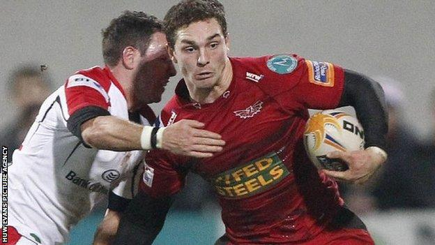 George North of the Scarlets