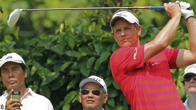 Luke Donald at Malaysia Open