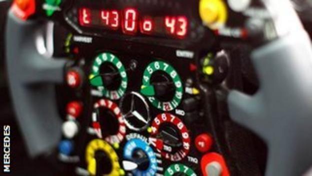 Lewis Hamilton's steering wheel