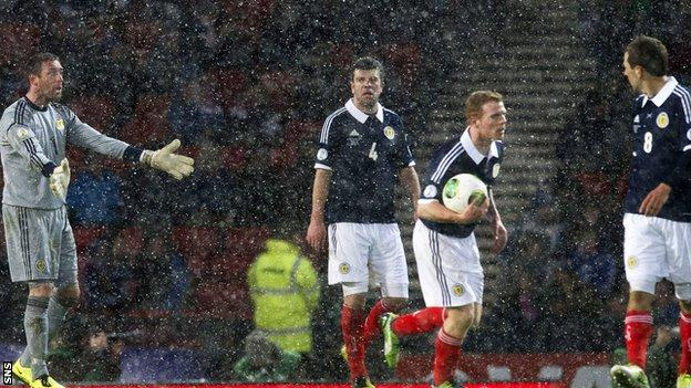 Scotland lost 2-1 at home to Wales