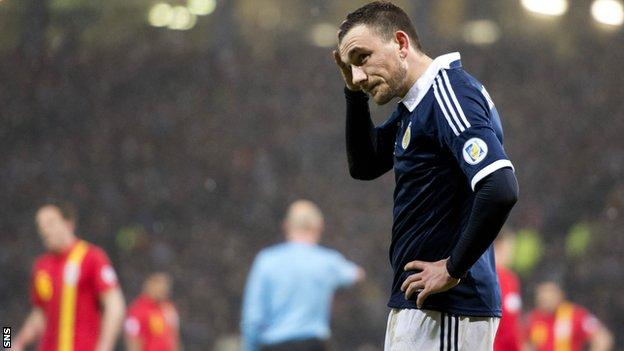 Scotland lost 2-1 to Wales on Friday
