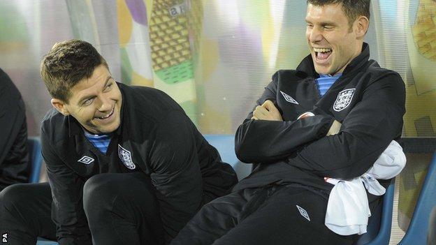 Steven Gerrard (left) and James Milner