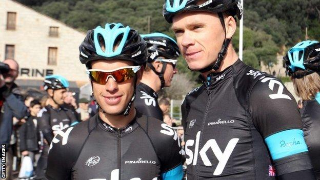 Richie Porte (left) and Chris Froome