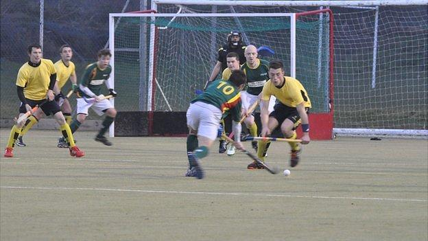 Guernsey Hockey playing South Cheshire in the semi final of the HA Trophy