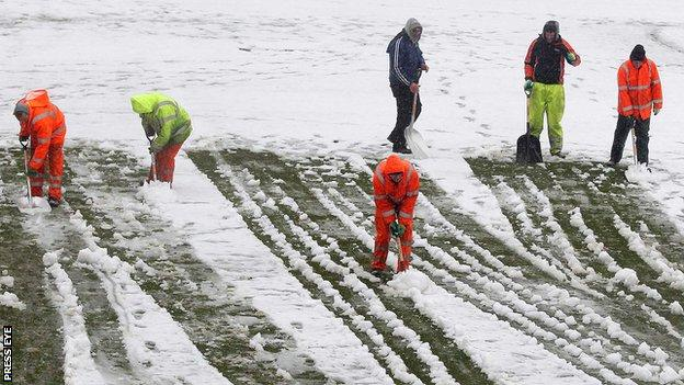 Northern Ireland's game against Russia had to be postponed