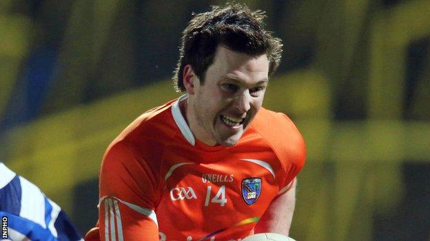 Stefan Forker and Armagh's main scoring threat
