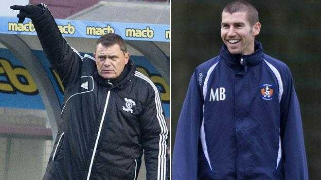 Livingston boss Richie Burke (left) and his assistant Mark Burchill