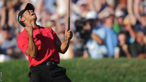 Tiger Woods's last major came at the 2008 US Open