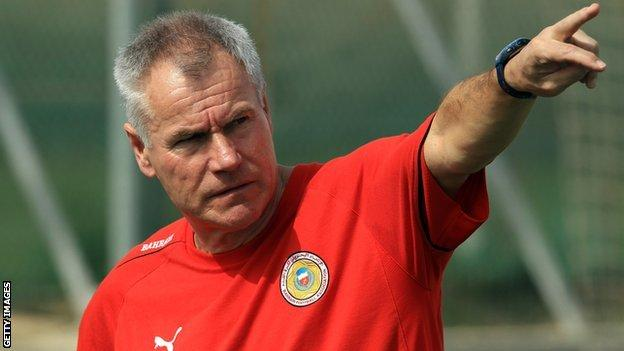 England Under-20 manager Peter Taylor