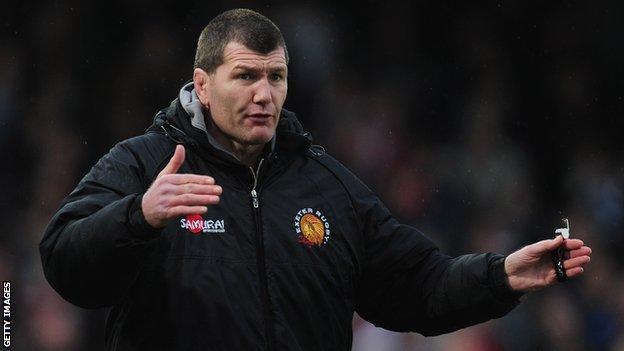 Exeter coach Rob Baxter