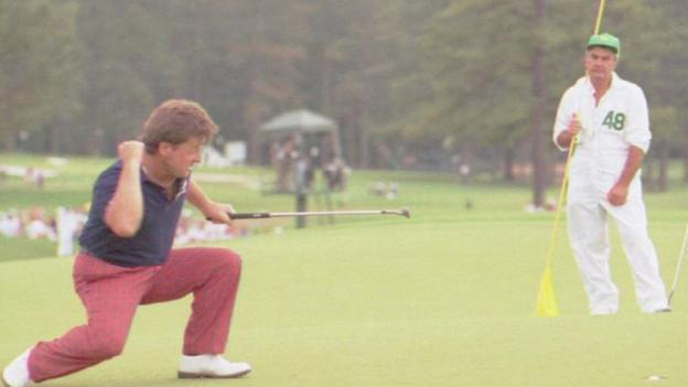Ian Woosnam wins the 1991 Masters