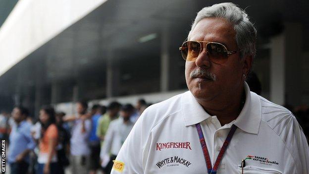Force India boss Vijay Mallya