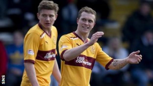 Motherwell midfielder Nicky Law