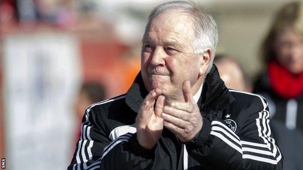 Aberdeen manager Craig Brown