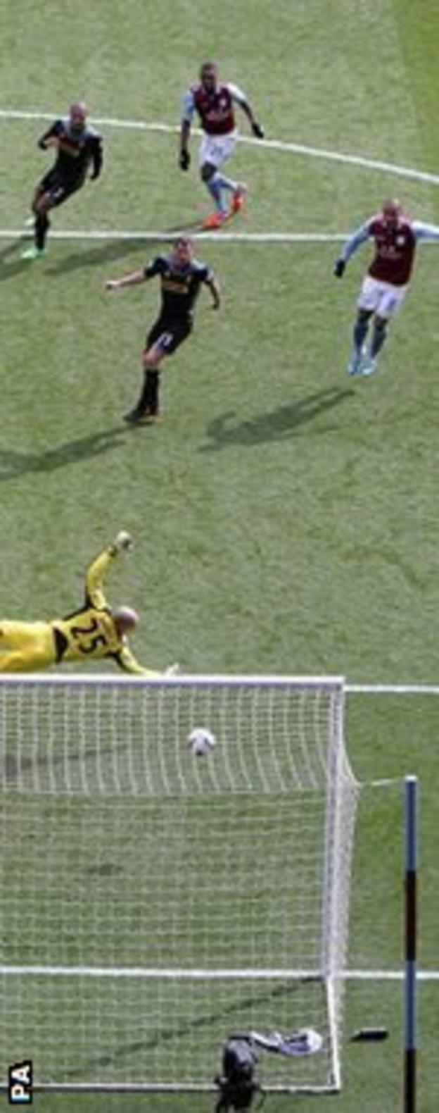 Christian Benteke puts Villa ahead