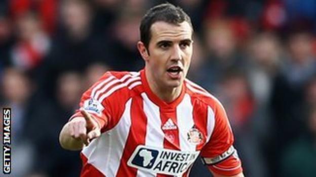 Sunderland defender John O'Shea