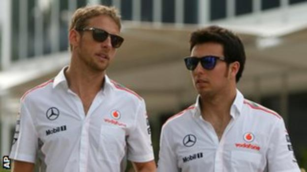 Jenson Button and Sergio Perez