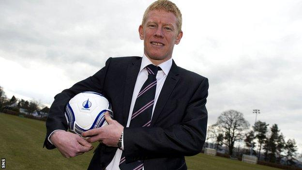 New Falkirk manager Gary Holt