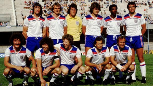 England Football Team 1980