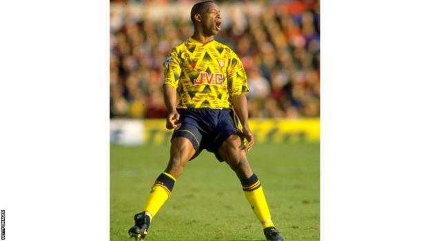 Arsenal's Ian Wright 1992-93