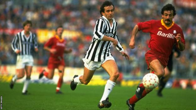 Juventus's Michel Platini in 1980
