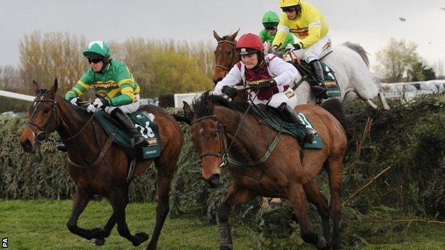 Action from the 2012 Grand National