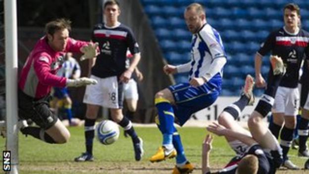 Dundee and Kilmarnock players