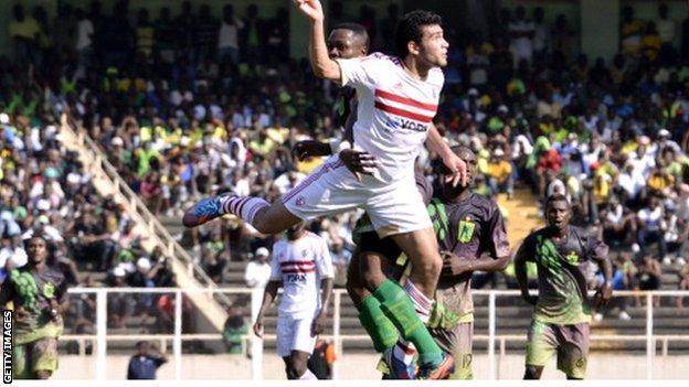 Zamalek defender Salah Mohamed