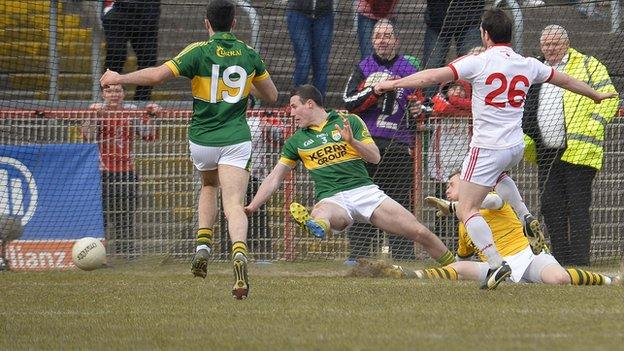 Tyrone were beaten by a point by Kerry
