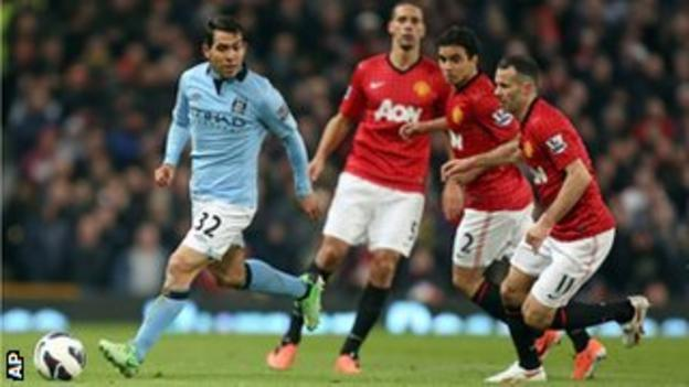 Carlos Tevez led Manchester City's attack on his own