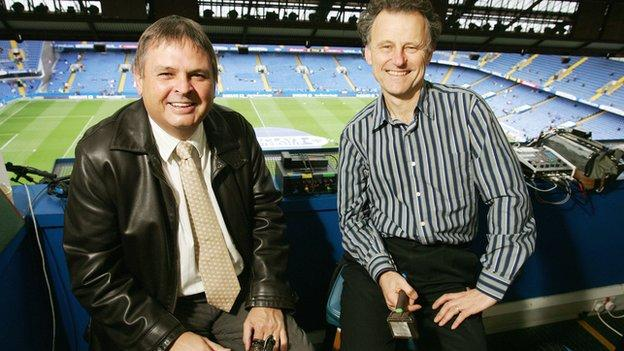 BBC football commentators Alan Green and Mike Ingham