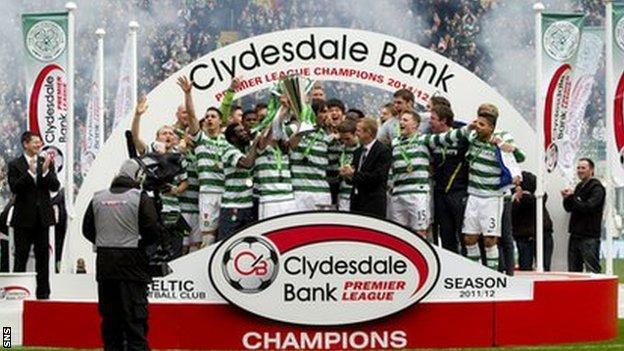 Celtic celebrate last season's title win